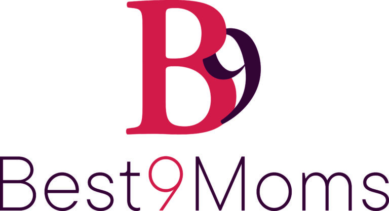 Best9Moms logo staand CMYK